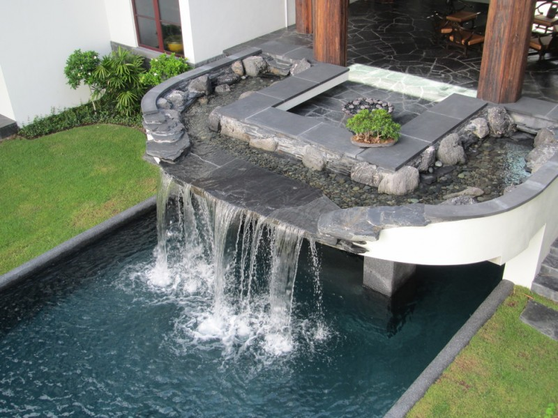 Pool Tile Water Fountain : Charming waterfalls for pools to be amazed by decohoms