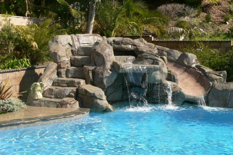 Charming waterfalls for pools to be amazed by decohoms for Swimming pool fountains waterfalls