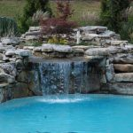 waterfalls for pools stone natural water feature harvested natural boulders and fieldstone great backyard garden