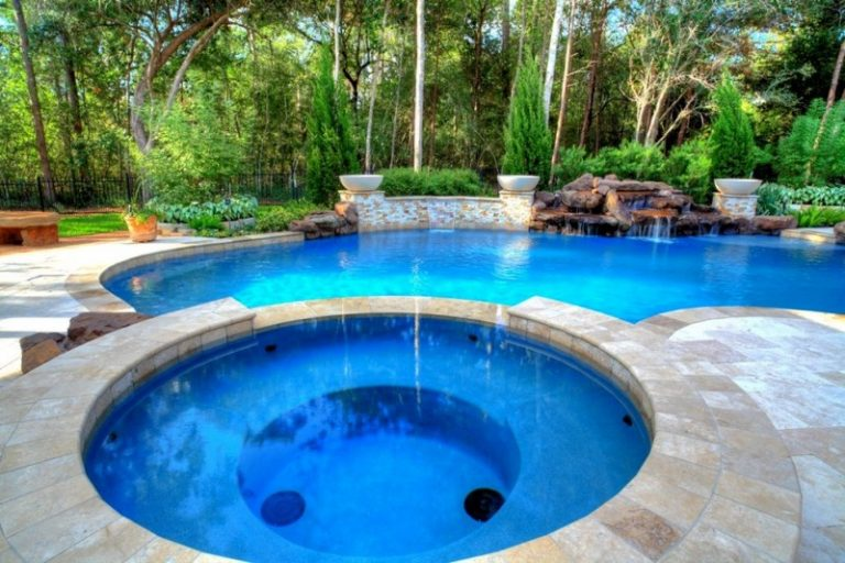 Charming waterfalls for pools to be amazed by decohoms for Pool and spa show usa