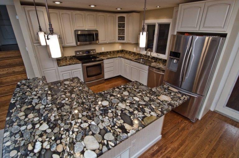 Heartening Black And White Granite Countertops Decohoms