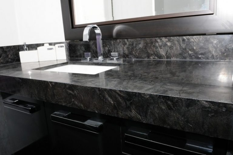 Heartening Black And White Granite Countertops Decohoms