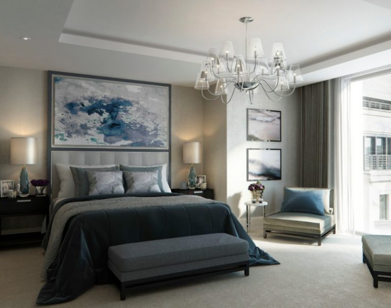 Elegant candice olson bedding ideas that will complete your bedroom candice olson bedding blue and grey bedding black low bed base beautiful glass cup chandelier large aloadofball Images