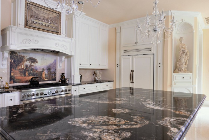 Black Titanium Granite : Heartening black and white granite countertops decohoms