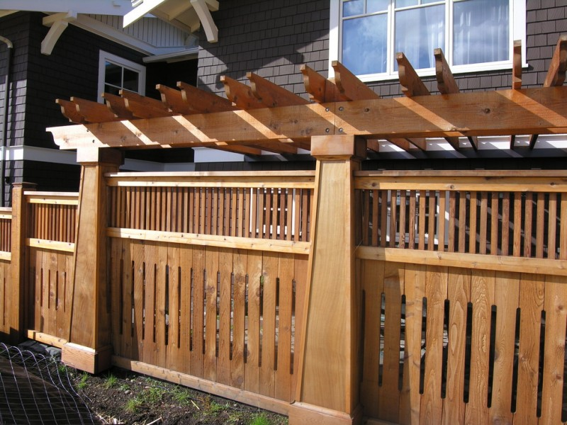 craftsman fence front yard fence wooden fence pergola tiled black wall glass window