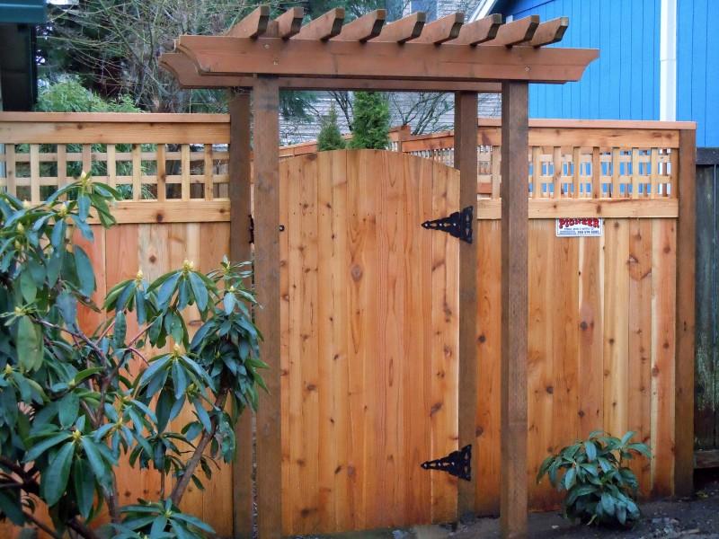 craftsman fence wooden fence pergola gate trellis arbor