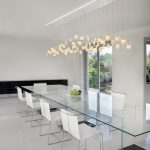 dining room light fixture gailee tulips lighting blown clear glass pendant wide pendant art touch full glass dining table minimalist chairs sliding door