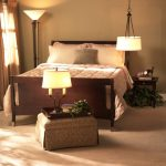Hanging Lights For Bedroom Bed Ottoman Standing Lamp Table Light Beige Floor Sidetable Window Traditional Design