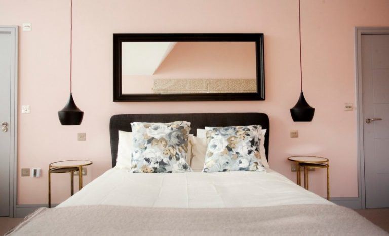 Hanging Lights For Bedroom Bed Pillows Cool Black Lampshades Doors Bedside Tables Mirror Transitional Room