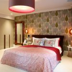 hanging lights for bedroom cool wall patterns bed pillows lamps small bedside tables mirror ceiling light contemporary room