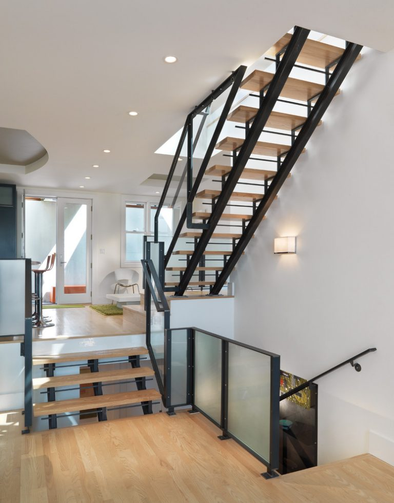 Cool metal stair stringers to get stair stringer design for Pre built stairs interior