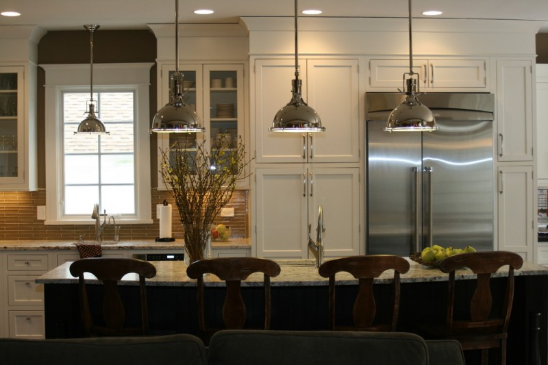 pendant lights for kitchen cabinetry harmon pendant walker zanger roku glass tiles chrome plated paper towel holder