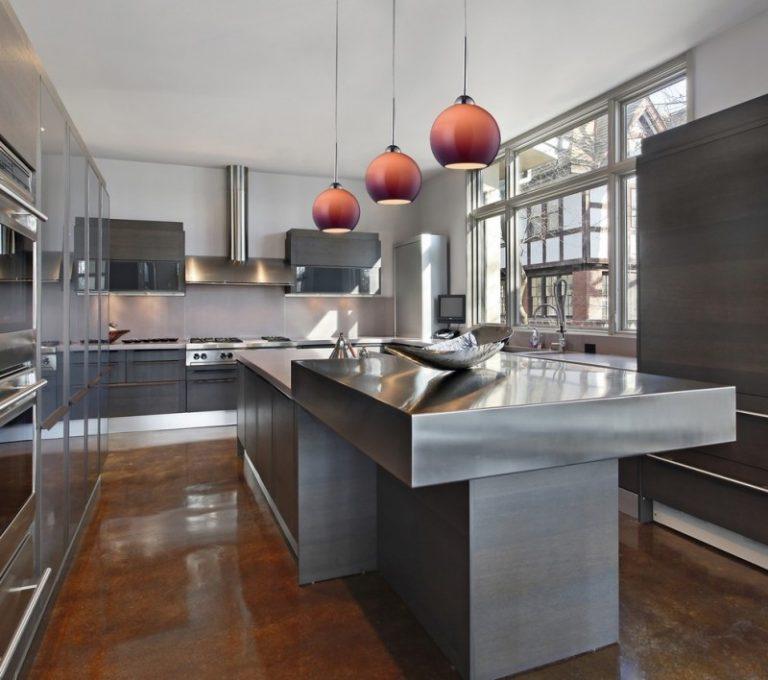 Pendant Lights For Kitchen Futuristic Flat Kitchen Cabinet Colorful Pendants  Minimalist Kitchen Island Wood Flooring Built