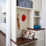 small mudroom ideas satin nikel hook blue fabric bins small bench shoe storage mini drawers white and brown wood