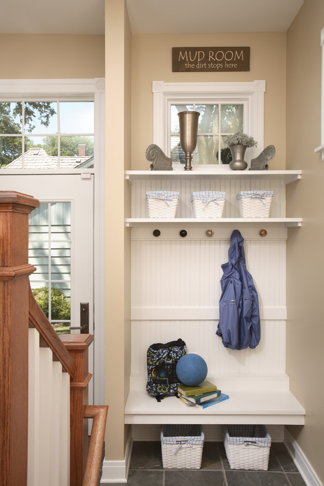 small mudroom ideas white honey can do parchment cord basket with liner jacket hook small window a white bench