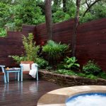 Stain Fence Board On Board Fence Pool Stone Wall