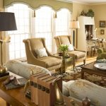 Valances For Living Room Metamorphosis Table Lamp Tryon Floor Lamp White Framed Window Patterned Sofa And Rug Wood Table
