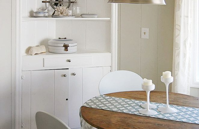 Beach Style Dining Room Antique Recessed Corner Cabinet In White Clean  White Dining Chairs Round Shaped With Corner Cabinet Dining Room Furniture.