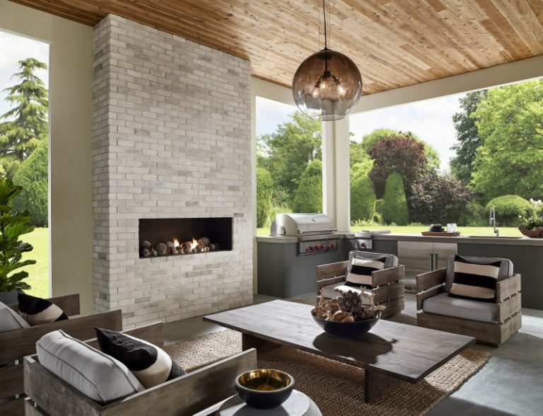 Covered Patio With Fireplace A Family Place To Relax