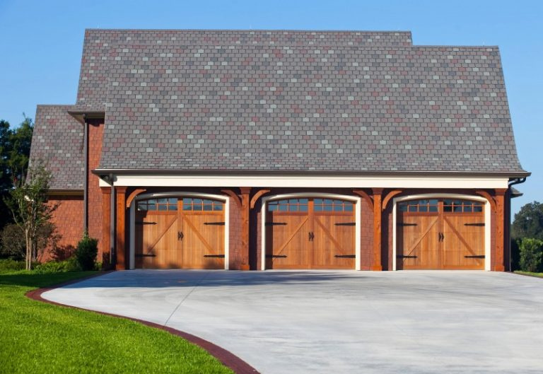 3 Car Garage Block : Curved driveway cheap extra wide concrete with