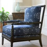 Eclectic Living Room Blue Spindle Chair With Motifs Old And Antique Console Table With Blue Table Lamp