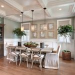 Farmhouse Dining Room Dining Chairs With Slipcover Pale Toned Dining Table Old & Antique Corner Cabinets With Upper Glass Door Medium Toned Wood Floors
