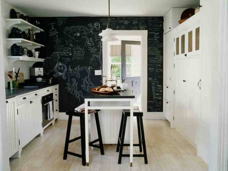 kitchen wall decor ideas jil monopoint pendant with white glass canopy washable dark chalkboard paint black and white kitchen furniture light wood floor
