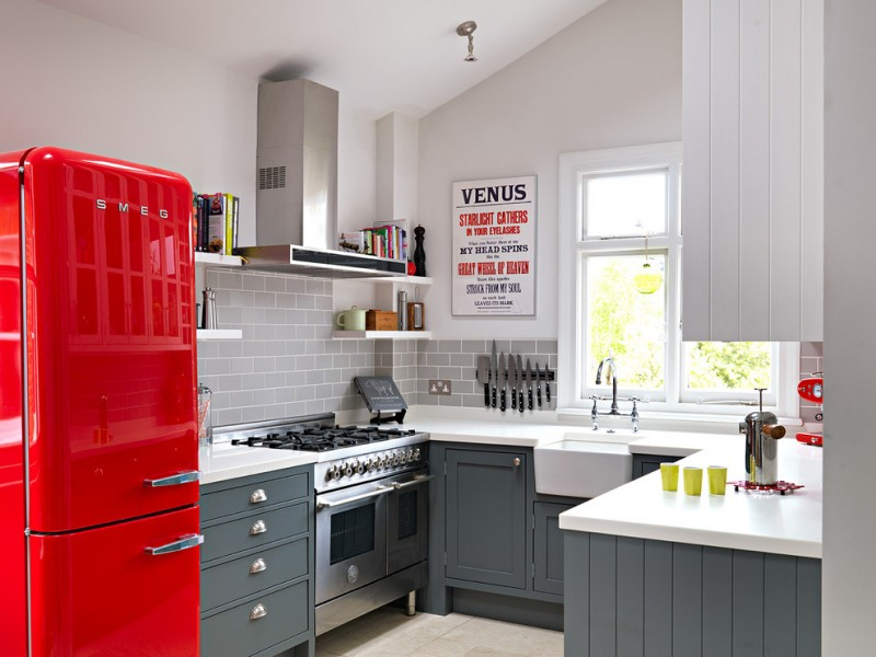 kitchen wall decor ideas red midcentury fridges kitchen note board window u shaped kitchen white and grey cabinet wall hood