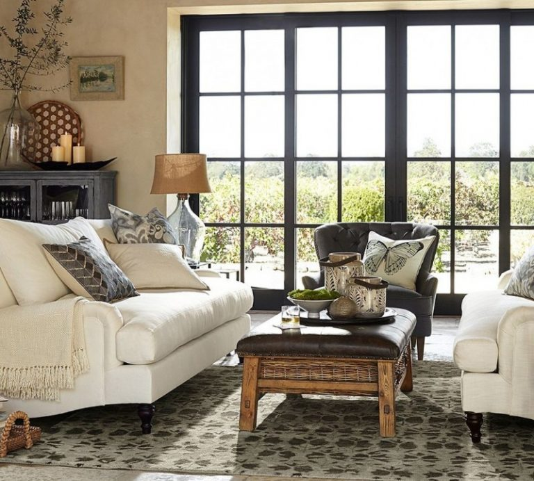 Marvelous Pottery Barn Room Ideas Part - 12: Pottery Barn Living Room Amelia Glass Cabinet Carlisle Upholstered Loveseat  Lansing Leather Recliner Caden Equestrian Upholstered