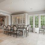 Shabby But Chic French Style Dining Set In White White Ceramic Tiles Floors Corner Buffet In White
