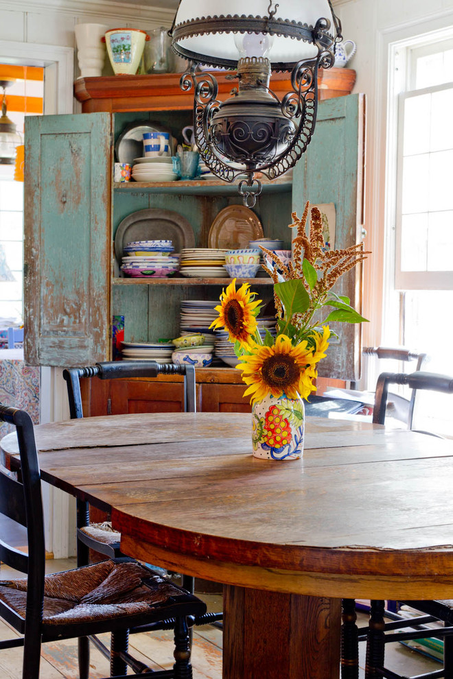 shabby chic corner cabinet in blue
