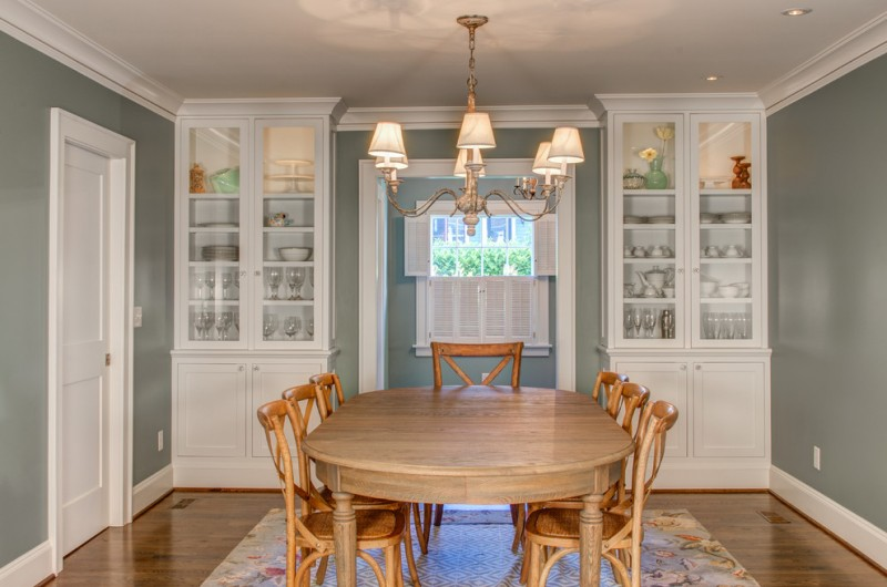 Traditional Dining Room Hardwood Dining Table Hardwood Dining Chairs Medium  Toned Hardwood Floors White Built In