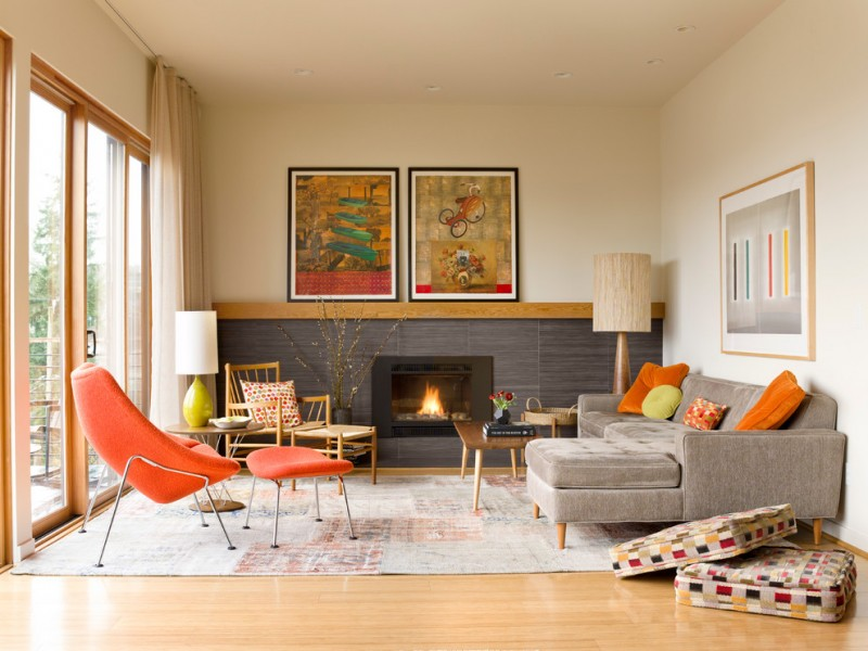 Make your guests impressed with these fabulous mid century for Modern retro living room ideas
