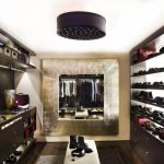 mirrored closet shoe racks open shelves dark cabinet closet bench cabinet holder built in cabinet ceiling light sconce wall decoration