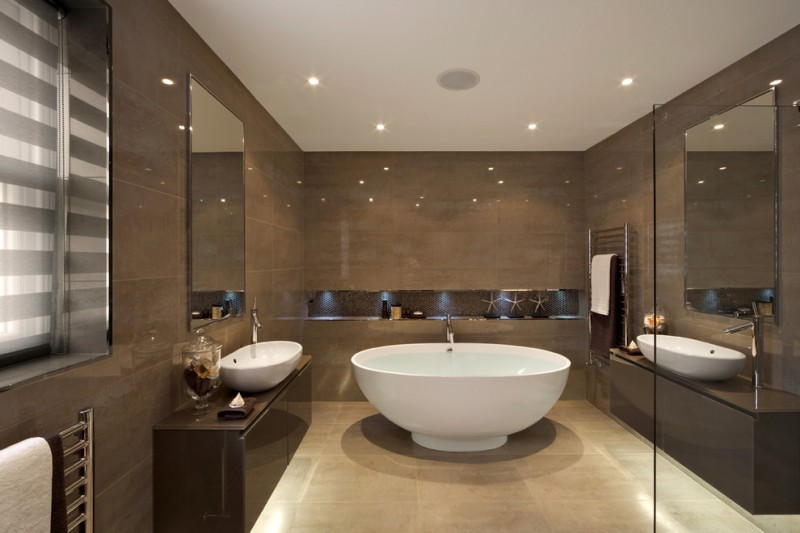Wonderful Brown Bathroom You Can Apply in Your Home | Decohoms