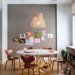 Kids Art Table Vine Table Dark Walnut Chairs Arne Jacobsen Grand Prix Chairs Wooden Floor Storage Window With Shade Chandelier