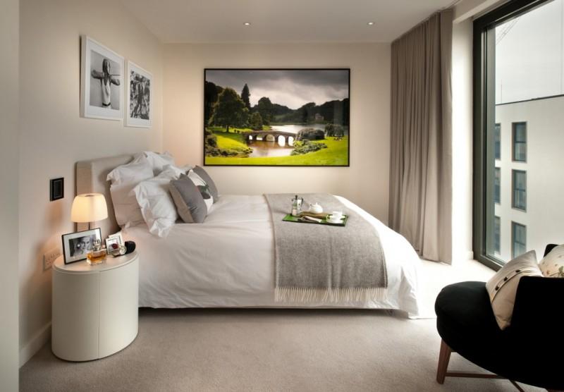 Art Deco Bedroom Feel Good Armchair By Flexform Foscarini Lumiere Table  Lamp Magnum Bed Flexform White