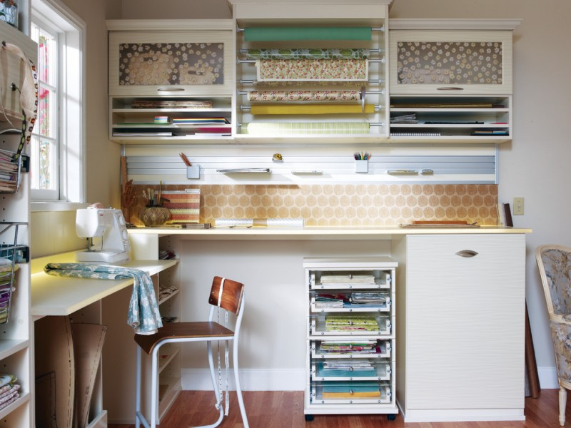 craft desk with storage beige wall fabric storage floral cabinets gift wrapping magnetic wall rack paper cabinets sewing machine wall rack
