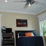 Kids Ceiling Fans Bed Pillows Car Themed Ceiling Lighting Crown Molding Oak Hardwood Floors Poster Recessed Lighting