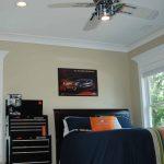 Kids Ceiling Fans Bed Pillows Car Themed Ceiling Lighting Crown Molding Oak Hardwood Floors Poster Recessed Lighting