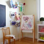 Kids Easel Art Line Cable Line Chalkboard Childrens Room Easel Hanging Kids Artwork Hanging Line Kids Artwork Kids Wall Art Window Wood Floor