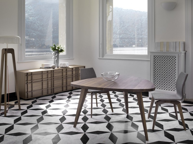 triangle dining table porada kesino triangular walnut dining table porada tilde chair uber interiors lighting porada ilt sideboard
