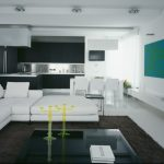 Black Rugs For Living Room Black Glass Coffee Table White Sectional Black Kitchen Cabinet And Island White Dining Table And Chairs
