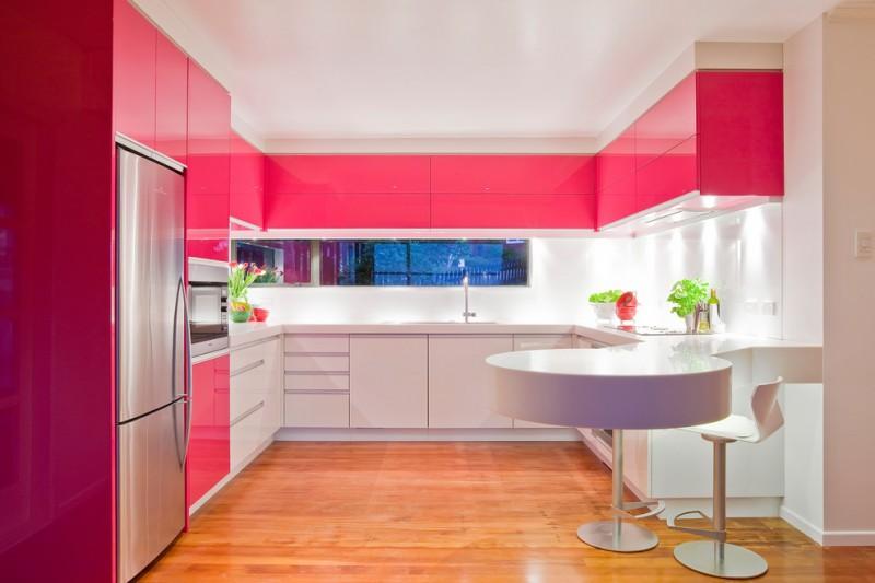 pink paint color ideas, pink kitchen design ideas, pink painted kitchen cabinets, pink interior paint ideas, pink living room decorating ideas, pink kitchen decorating ideas, pink retro kitchen ideas, pink wall paint ideas, on pink kitchen cabinets ideas