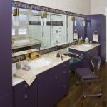 Purple Bathroom Accessories Purple Parfum Bottle Ghost Chair Purple Cabinet Sink And Vanity Mirror Tub Wall Sconces