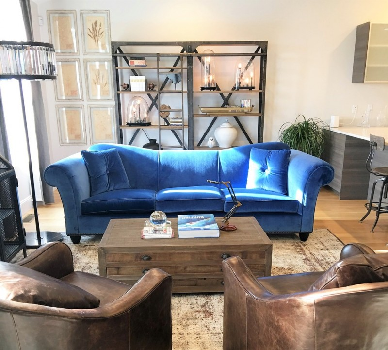 Blue Sofas Lights For Living Room And Royal Blue: Ten Great Royal Blue Sofa Ideas For Your Living Room