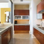 Floating Kitchen Cabinets Upper Cabinets With Frosted Glass Doors Recessed Lighting Undermount Sinks Wood Cabinets Dishwasher
