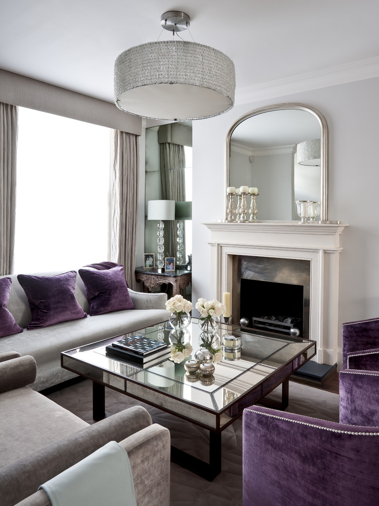 mirror tables for living room square coffee table purple and grey armchairs and sofa chandelier mirror fireplace window table lamps