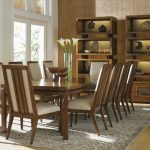 Asian Dining Table Tiered Bookcase From Tommy Bahama Home Island Fusion Slat Back Dining Chairs Tommy Bahama Dining Table Grey Rug