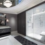 Cove Lighting Wall Sconce Ottoman Granite Countertop Shower In Raised Cabinet Marble Floor Marble Wall Built In Seating